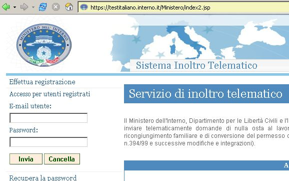 Testitaliano.interno.it – portale immigrazione