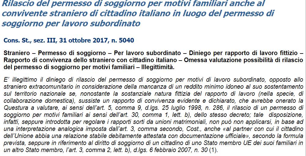 Beautiful carta di soggiorno familiare cittadino italiano for Portale immigrazione permesso di soggiorno password
