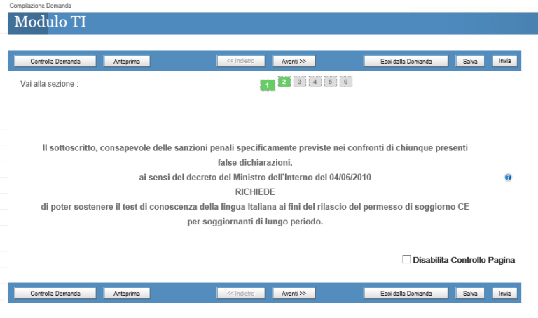 Test d'italiano per la carta di soggiorno - portale ...