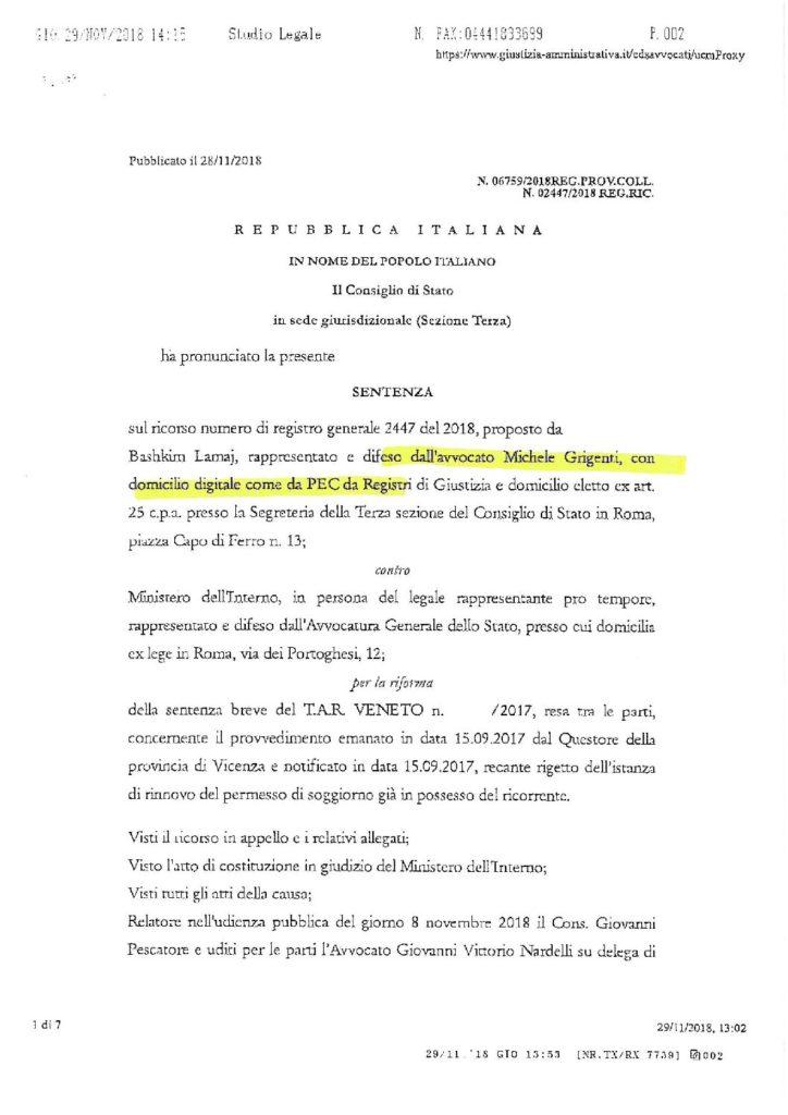 sentenza sui gravi e comprovati motivi assenza dall'italia