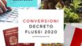 conversioni decreto flussi 2020