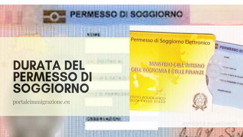 Durata del permesso di soggiorno – portale immigrazione