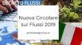 nuova circolare flussi 2019
