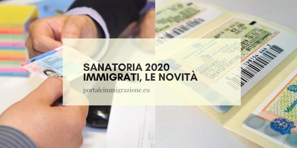 Sanatoria 2020 immigrati, le novità