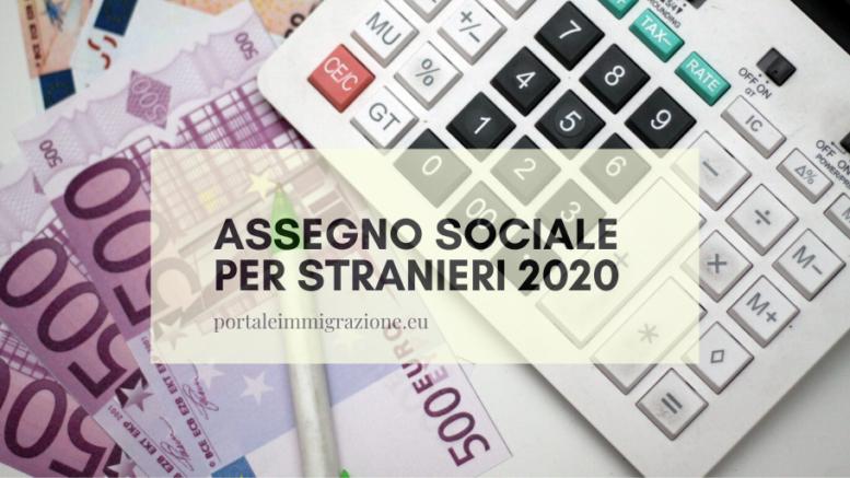 assegno sociale per stranieri 2020
