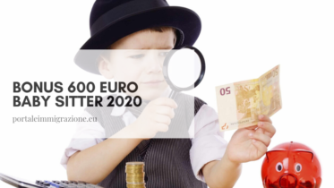 Bonus 600 euro baby sitter 2020