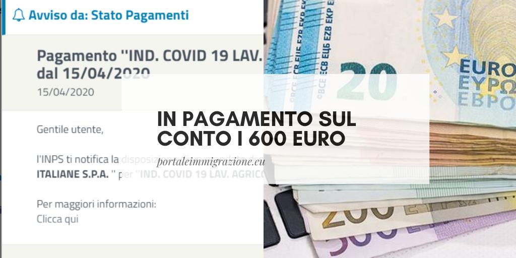 portale immigrazione pagamento 600 euro
