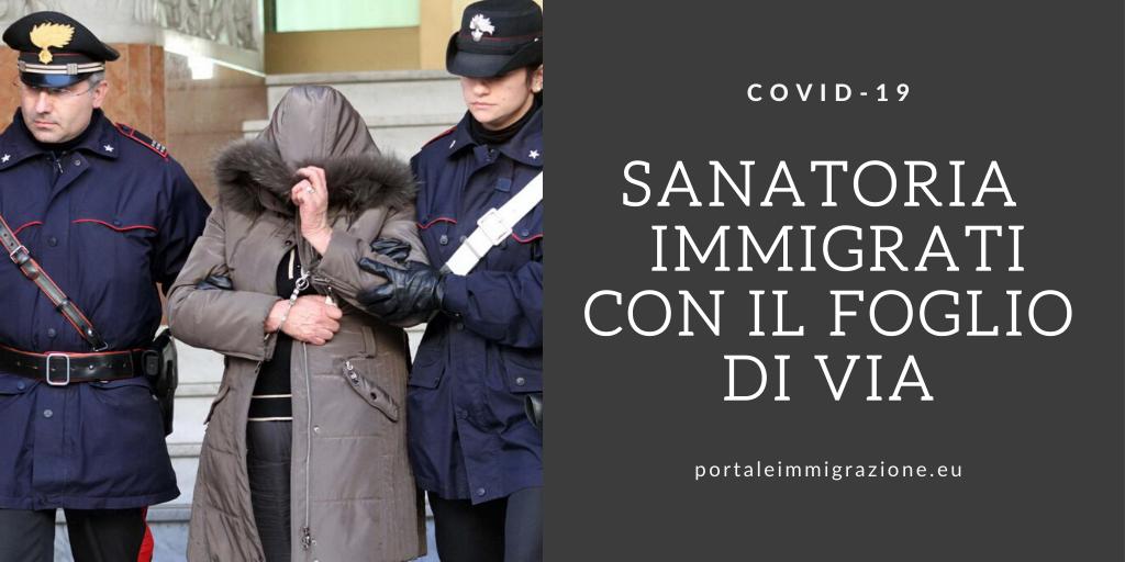 Sanatoria degli immigrati con il foglio di via