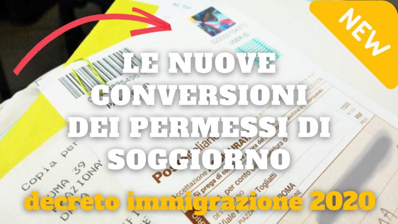 Le nuove conversioni dei permessi di soggiorno nel decreto ...